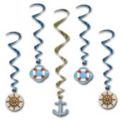 Cruise Ship Dangler Decorations-5 Pack