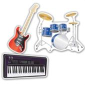 Musical Instruments Cutouts-3 Per Unit