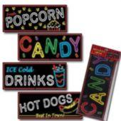 Food Neon Sign Cutouts-4 Per Unit