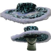 Blue Leopard Velvet Show Daddy Hat