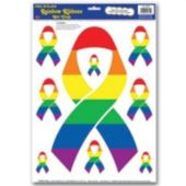 Rainbow Ribbon Clings