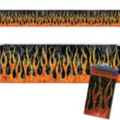 Flame Metallic Fringe Banner Decoration