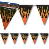 Flame Pennant Banner Decoration