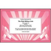Pink Ribbon Personalized Invitations