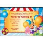 Big Top Circus Personalized Invitations