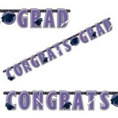 Purple Graduation Letter Banner