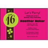 Sweet 16 Personalized Invitations
