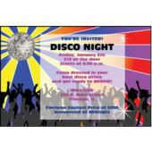 Disco Party Personalized Invitations
