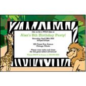 Safari Animals Personalized Invitations