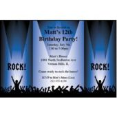 Rock Star Party Personalized Invitations