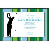 Golfer On The Green  Personalized Invtiations