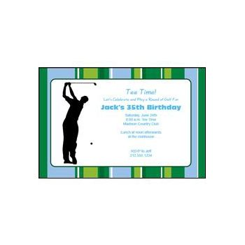 Golfer On the Green Personalized Invitations