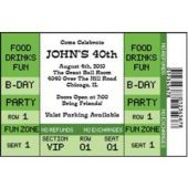 Birthday Ticket Personalized Invitations