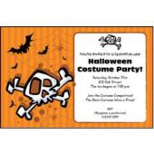 Halloween Skull Personalized Invitations