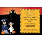 Costume Party Personalized Invitations