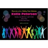 Neon Party Personalized Invitations