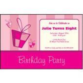 Pink Birthday  Personalized Invitations