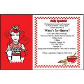 Recipe Party Personalized Invitations