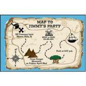 Treasure Map Personalized Invitations