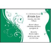 Green Sophisticate Personalized Invitations