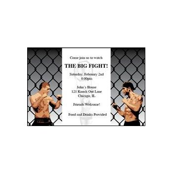 Fight Night Personalized Invitations