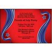 Patriotic Scroll Personalized Invitations