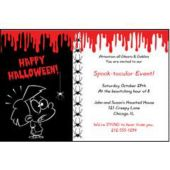 Bloody Halloween Personalized Invitations