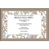 Sophisticated Scroll Personalized Invitations