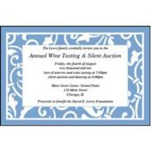 Blue Scroll Personalized Invitations