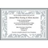 Silver Scroll Personalized Invitations