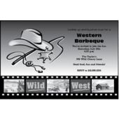 Wild West Personalized Invitations