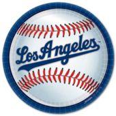 """LA Dodgers 9"""" Plates - 18 Per Unit"""