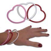 Heart Shape Bracelets-12 Pack