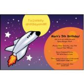 Space Shuttle Personalized Invitations