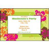 Aloha Green Personalized Invitations