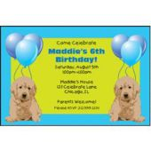 Party Pups Personalized Invitations