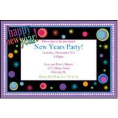 New Years Colors  Personalized Invitations