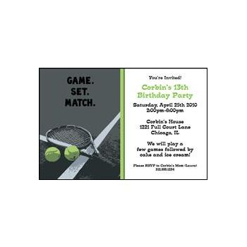 Tennis Game Set Match
