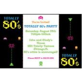 Totally 80's Personalized Invitations