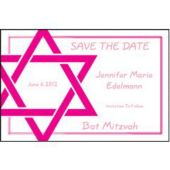 Star Of David Pink Personalized Invitations