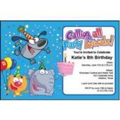 Party Animals Personalized Invitations
