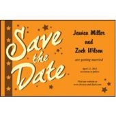 Orange Stars Save The Date