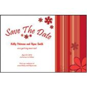 Red Stripes Save The Date