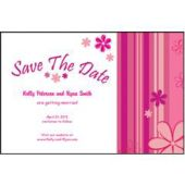 Pink Stripes Save The Date