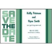 Mint Green Stacked Save The Date