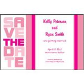 Pink Stacked  Save The Date