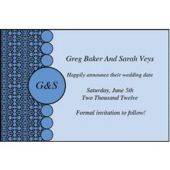 Blue Geometric Personalized Invitations
