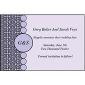 Purple Geometric Personalized Invitations