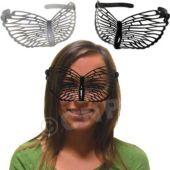 Black & White Butterfly Masks - 12 Pack