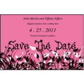 Field Of Flowers  Pink Save The Date